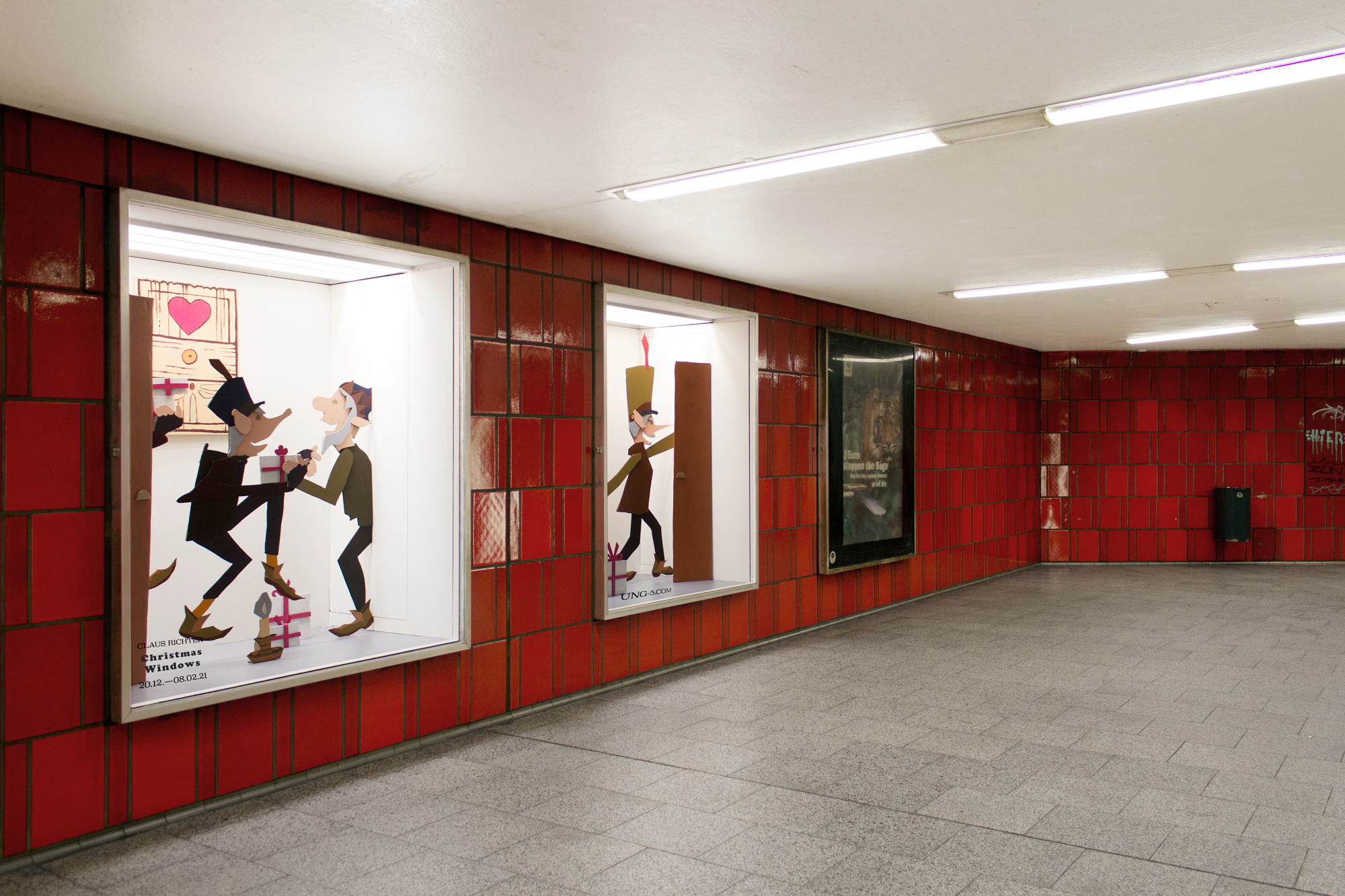 Installation View Claus Richter Christmas Windows